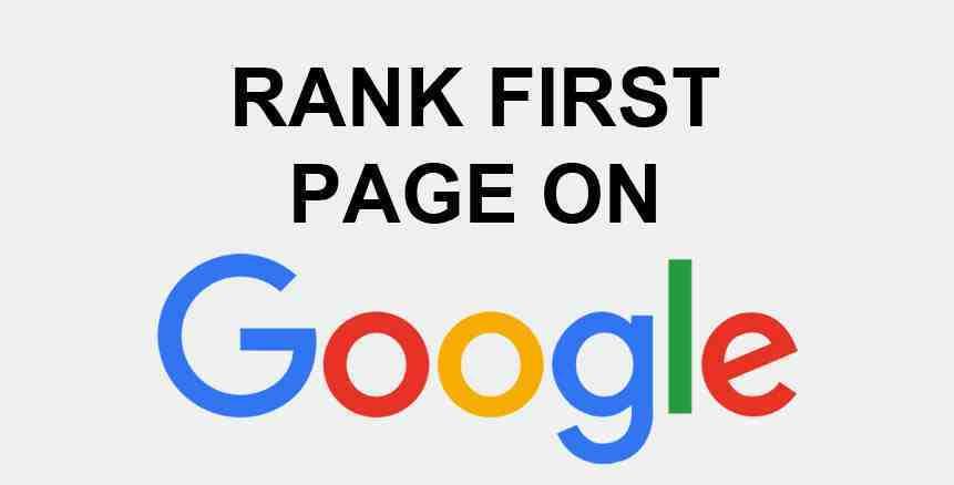 Rank First on Google